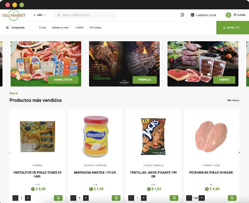 Desarrollo E-commerce Delimarket