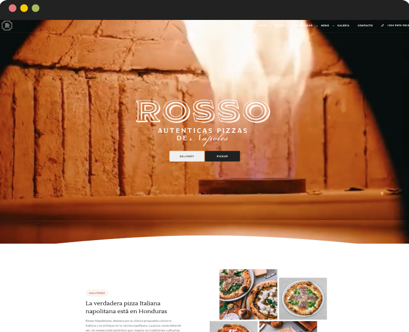 Diseño One Page Rosso
