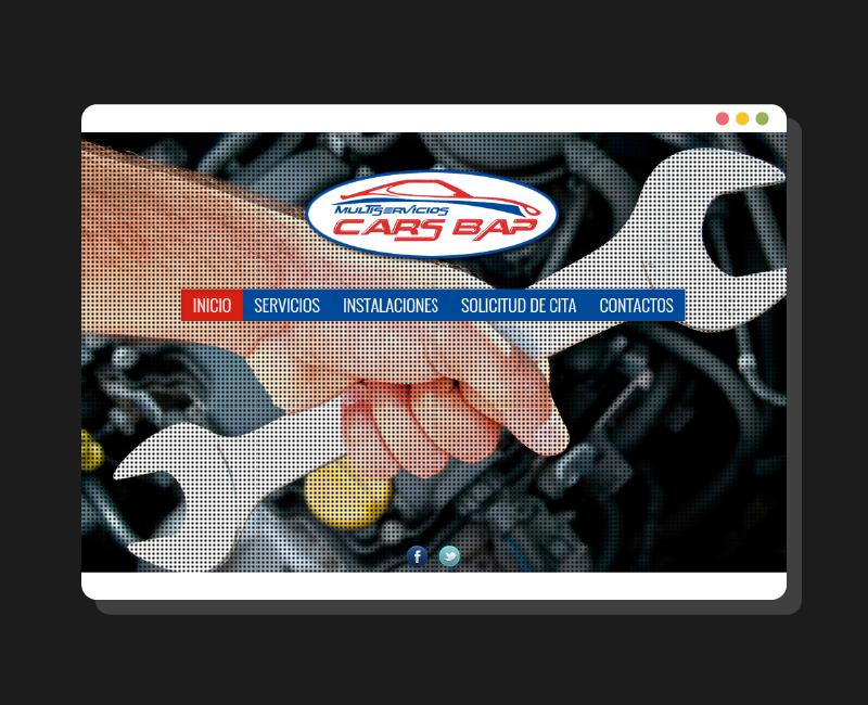 Diseño web CarsBap