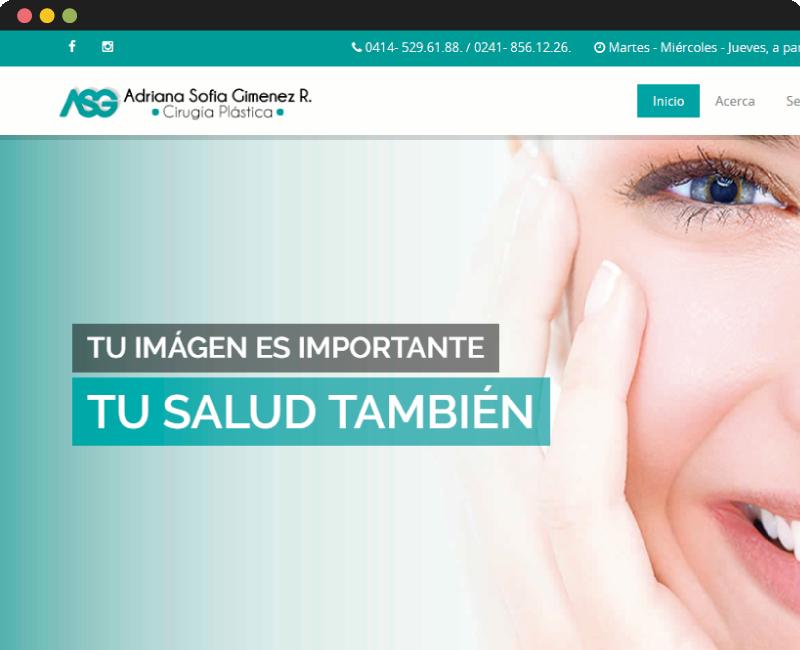 Diseño web Adriana Gimenez