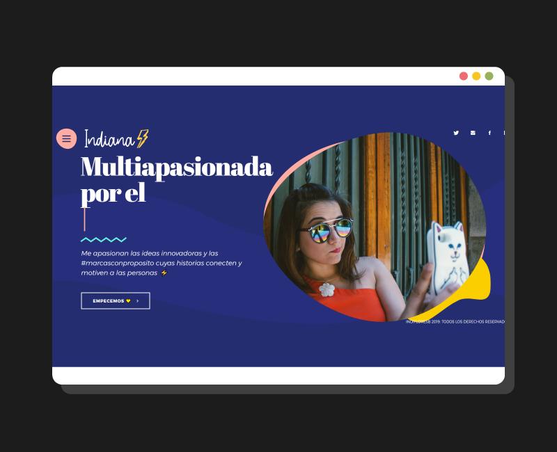 Diseño web Indifloresb