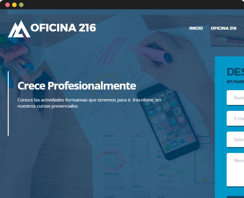 Diseño Web Oficina 216