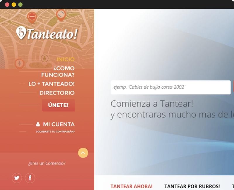 Diseño web Tantealo