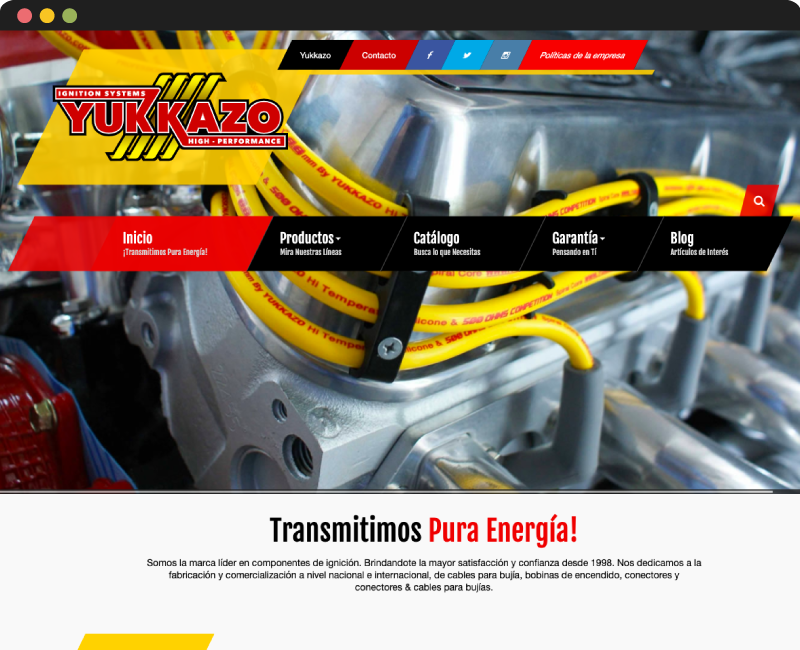 Diseño web YUKKAZO